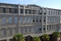 Eibands outside of building