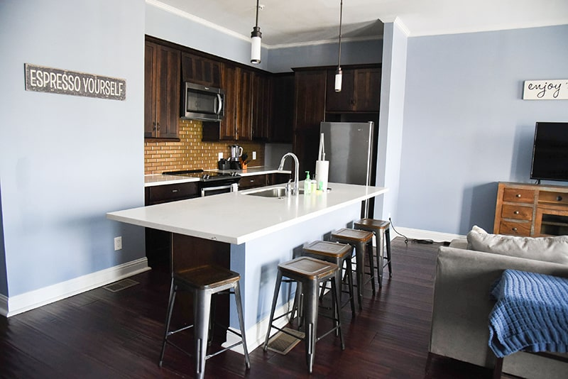 karam lofts galveston kitchen