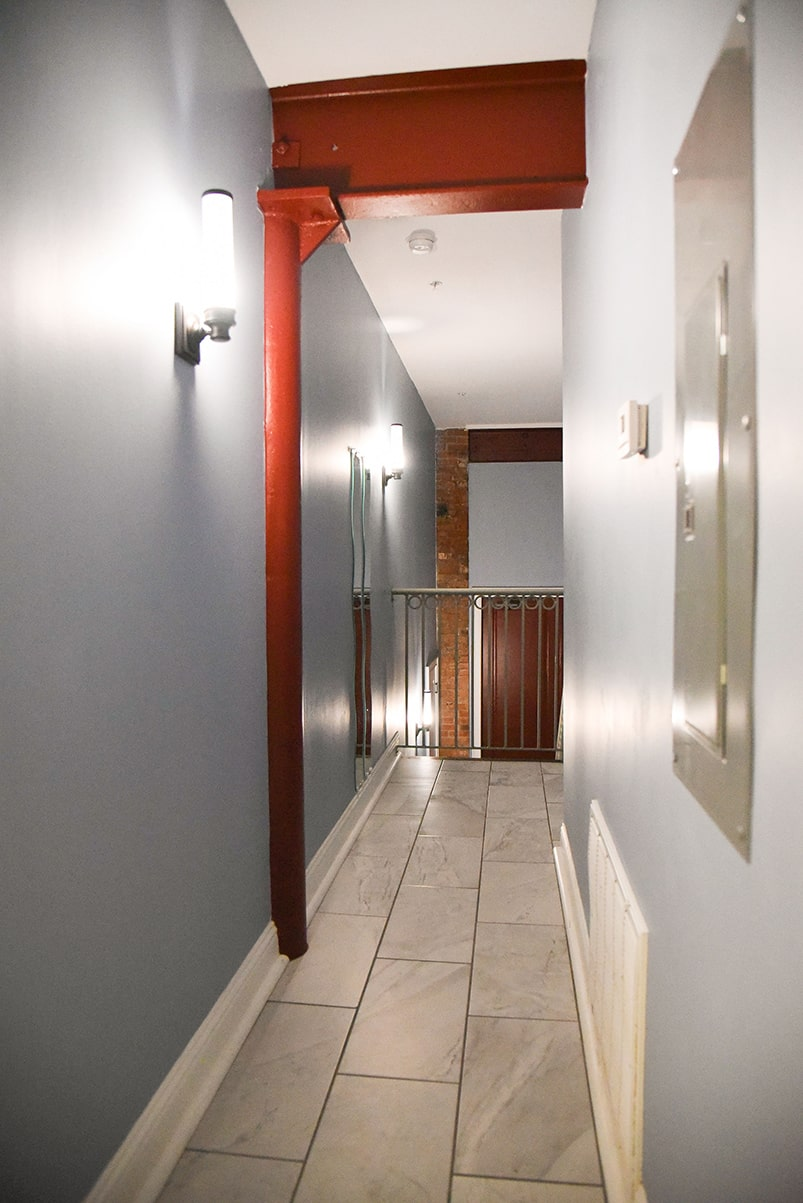 karam lofts galveston hallway