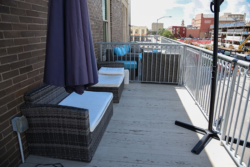 karam lofts galveston outside patio