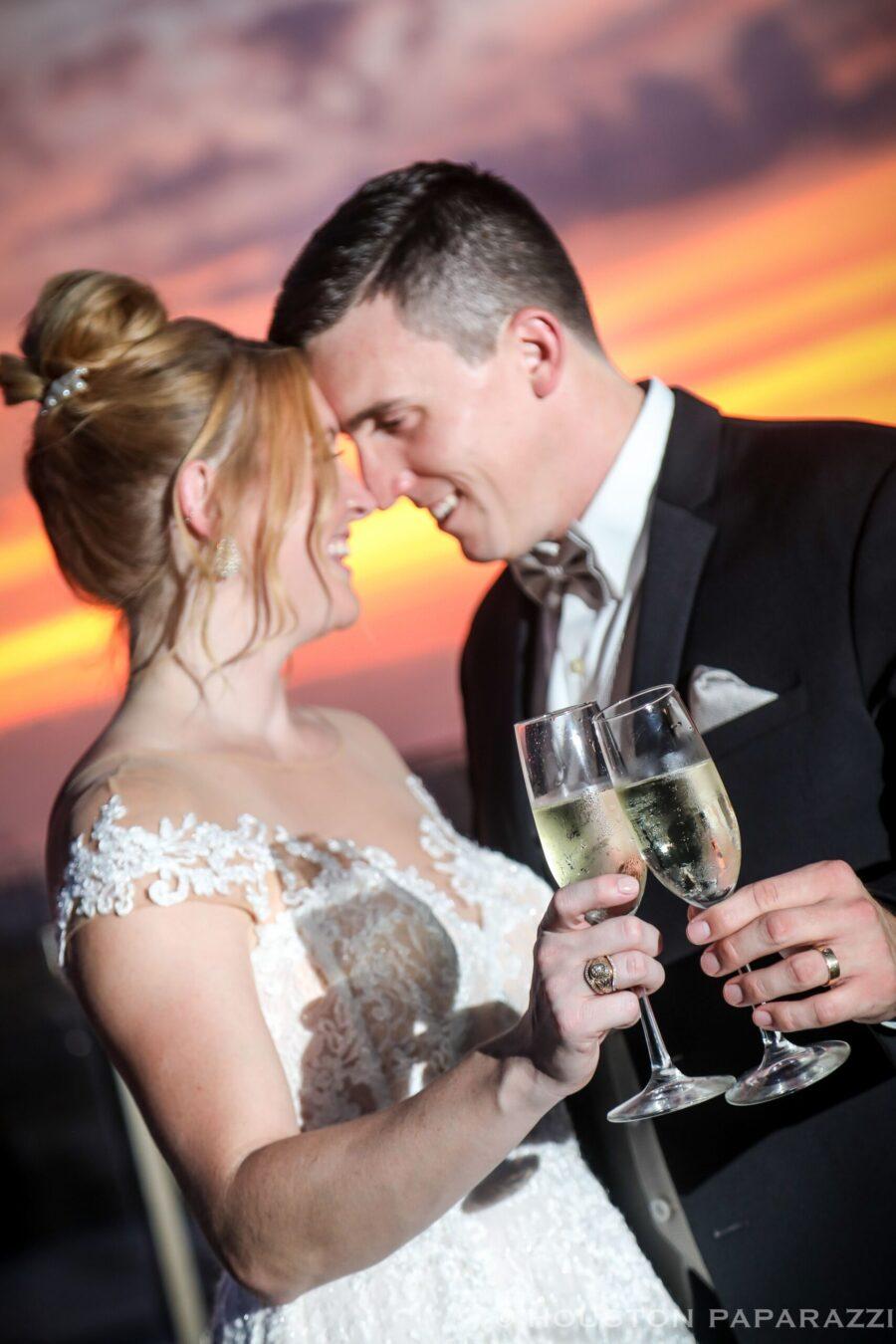 cheers to the wedding couple