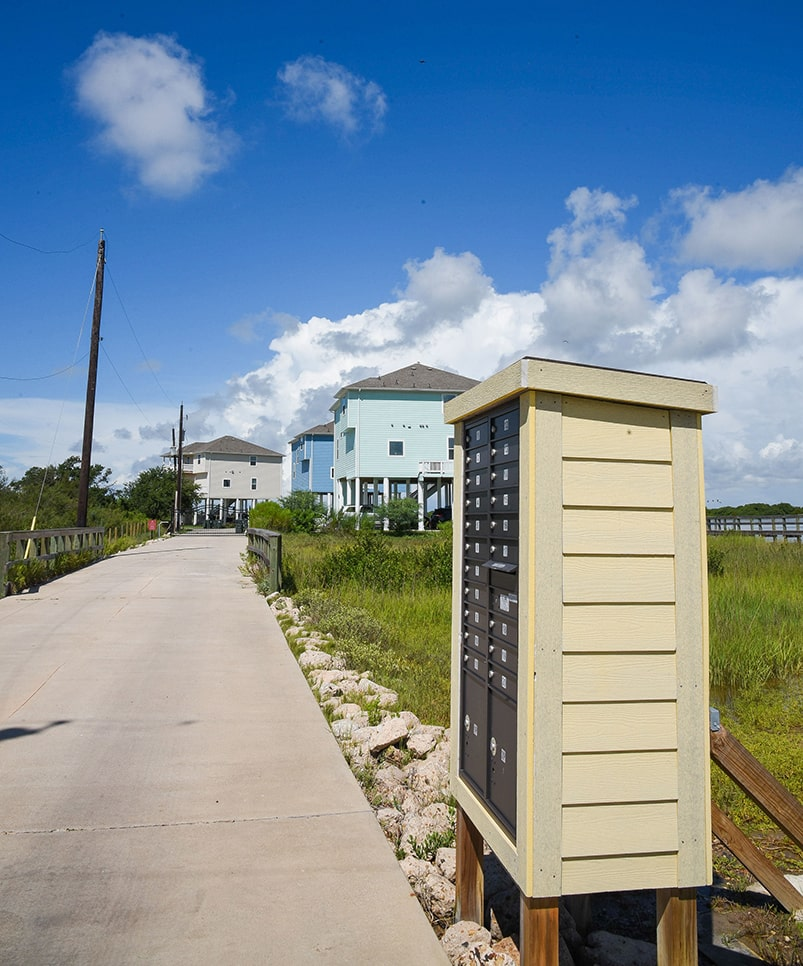 galveston bay entry with mailboxes