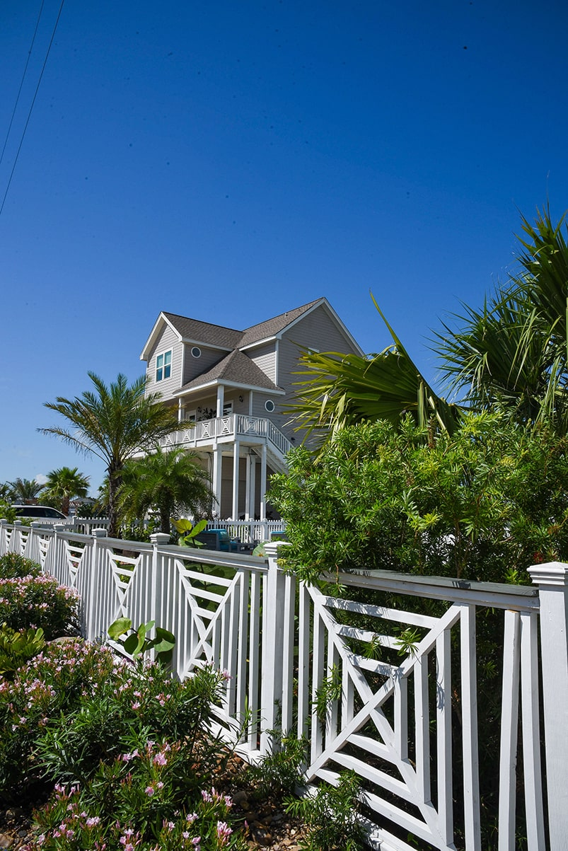 house and fence in galveston bay