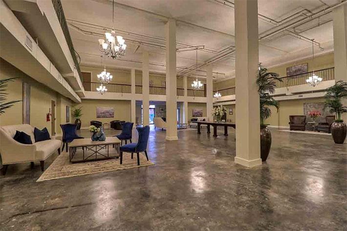 karam lofts lake charles grand lobby