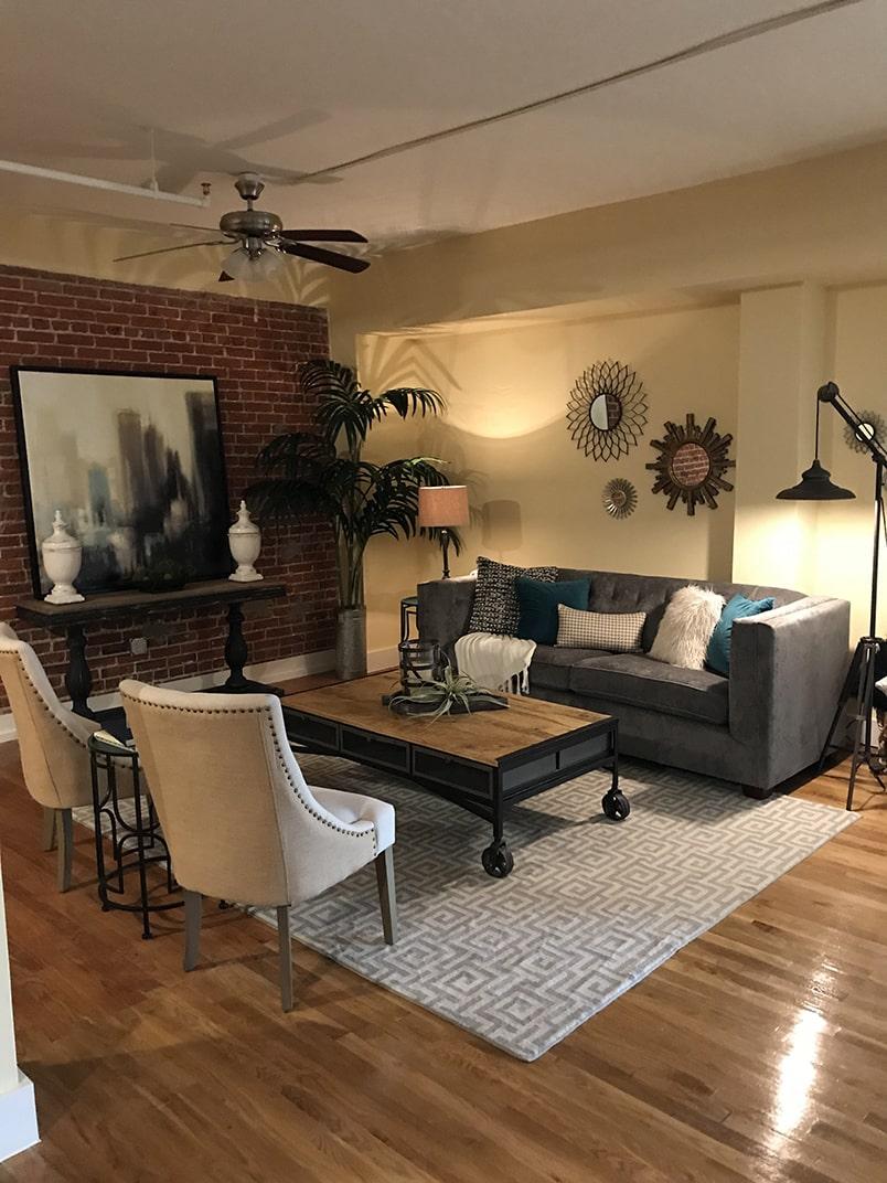 karam lofts lake charles living room