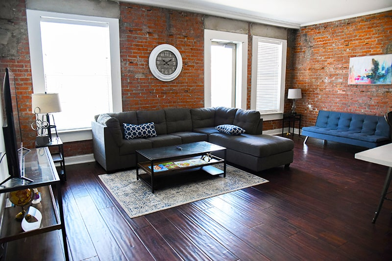 karam lofts living room