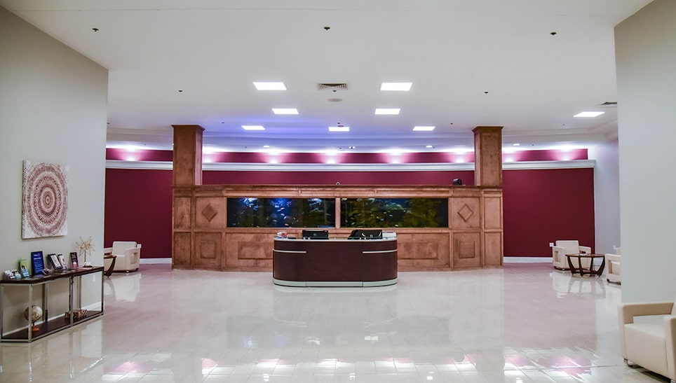 mainland city suites reception area