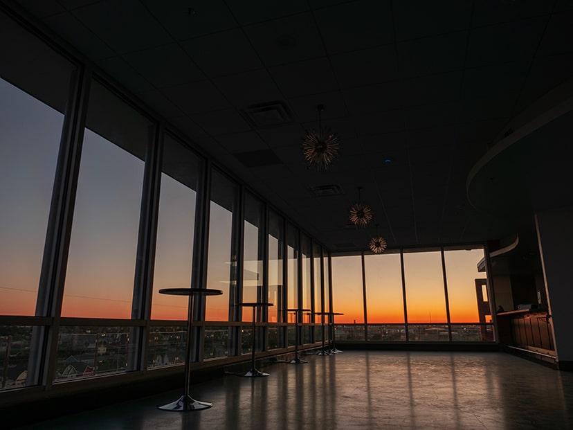 sunset in terrazzo hall