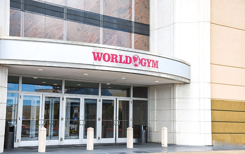 world gym entry texas city